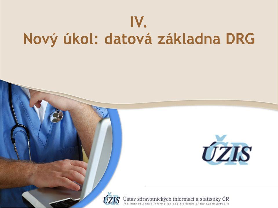 IV. Nový úkol: datová základna DRG