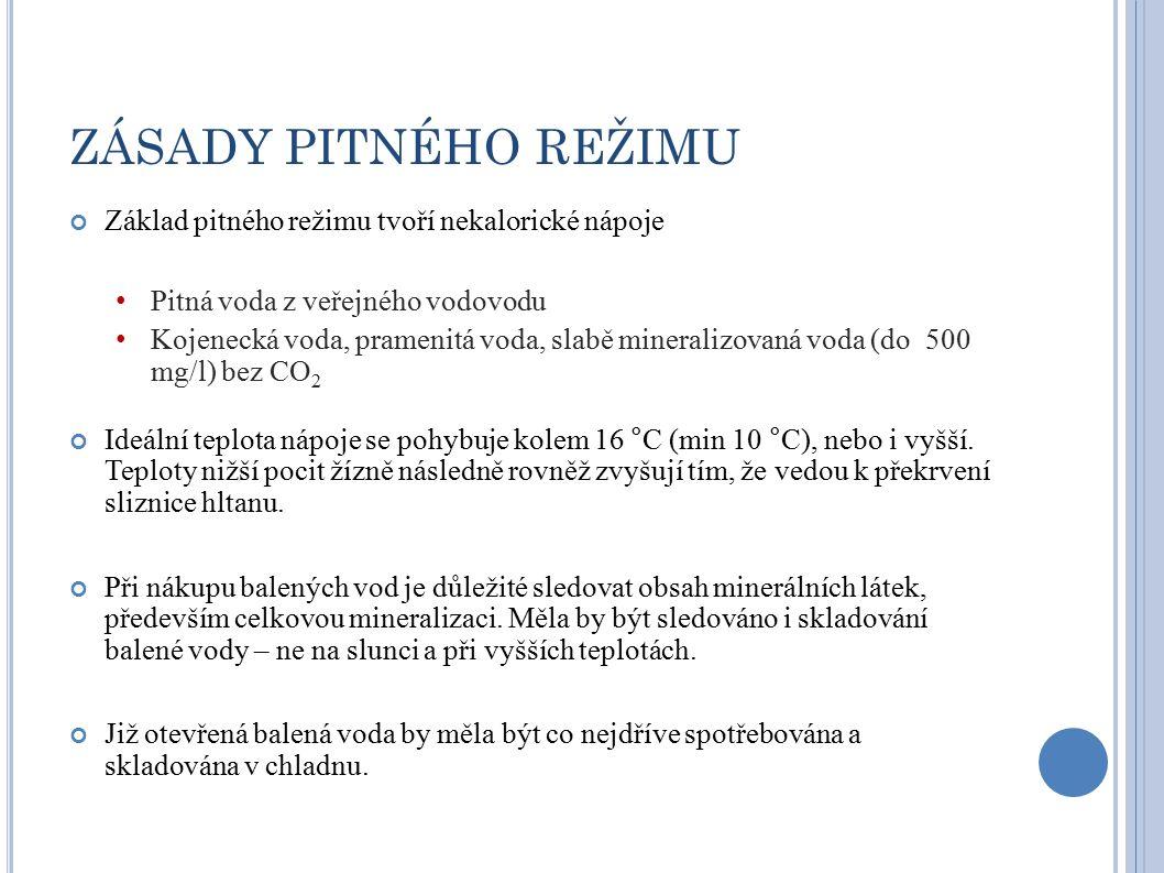 BALENÁ VODA Požadavky na balené vody – Vyhláška MZ 404/2006 Sb., kterou se mění vyhláška č.