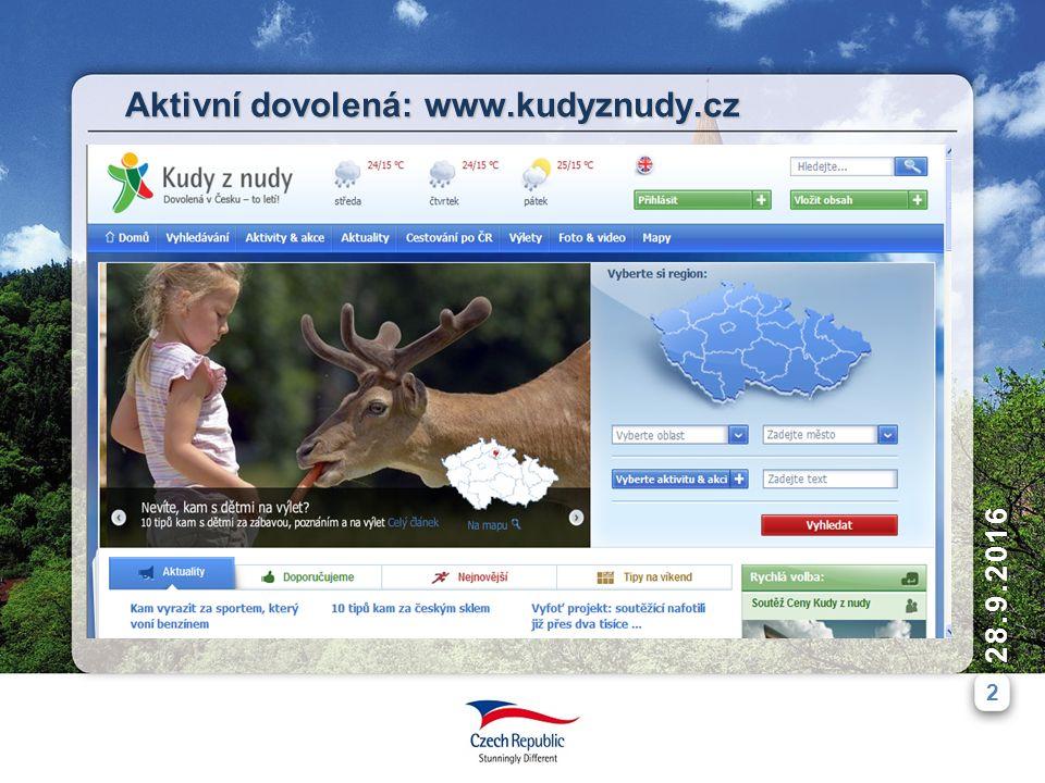 2 28.9.2016 Aktivní dovolená: www.kudyznudy.cz