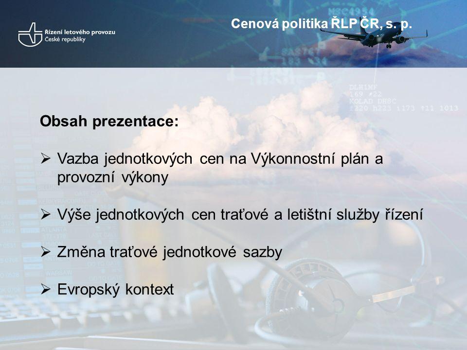 Cenová politika ŘLP ČR, s. p.