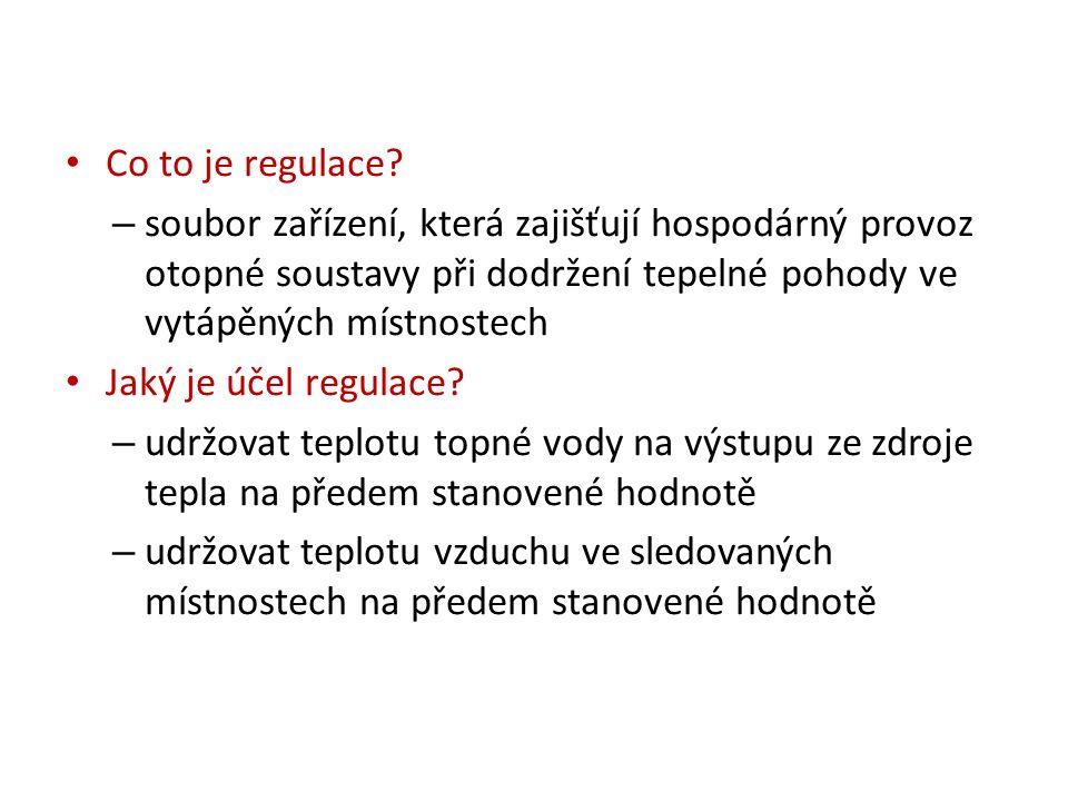 Jaký je význam regulace.