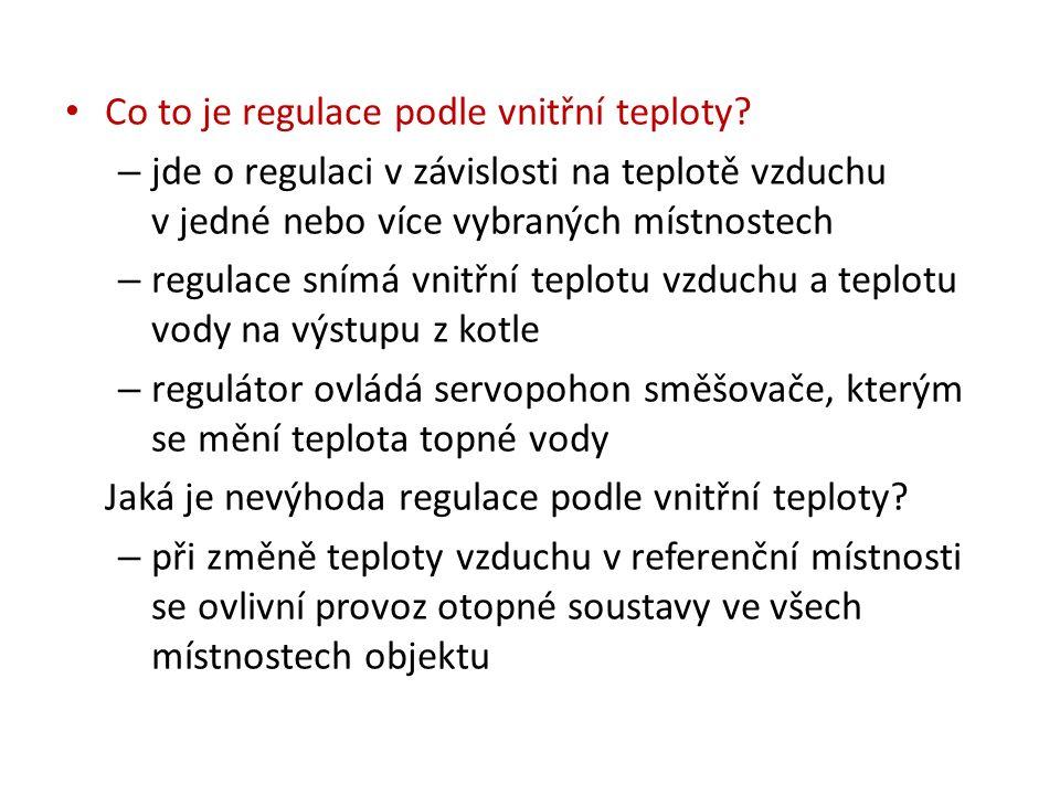 Co to je regulace podle teploty kotlové vody.