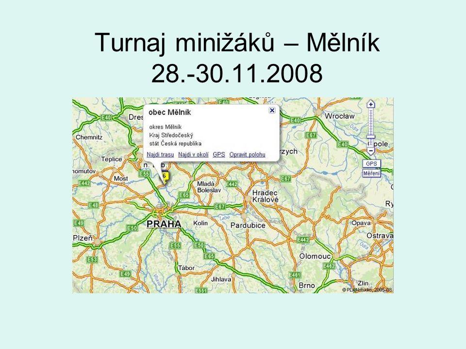 Turnaj minižáků – Mělník 28.-30.11.2008