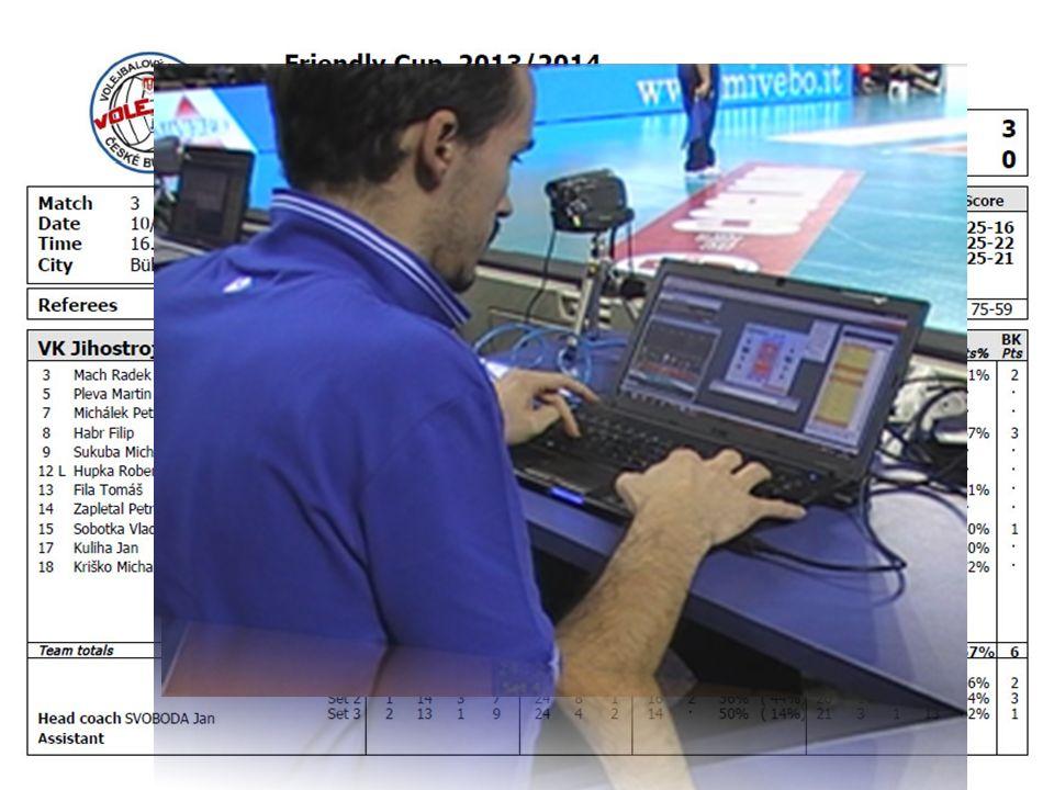 Základní formy využití technologie Statistika Video Kombinace – DataVolley