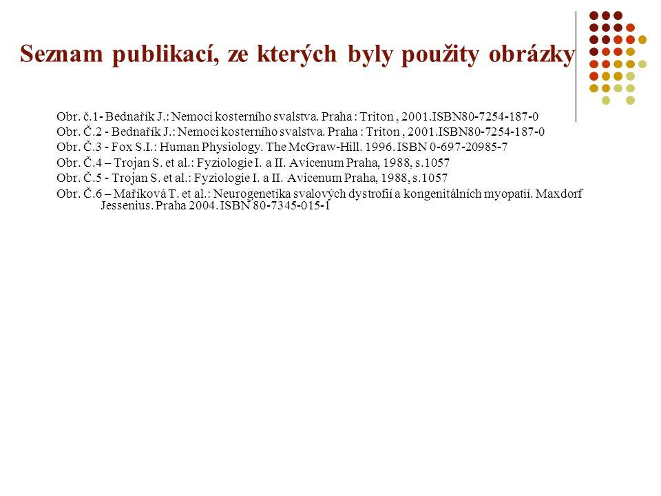 Seznam publikací, ze kterých byly použity obrázky Obr.