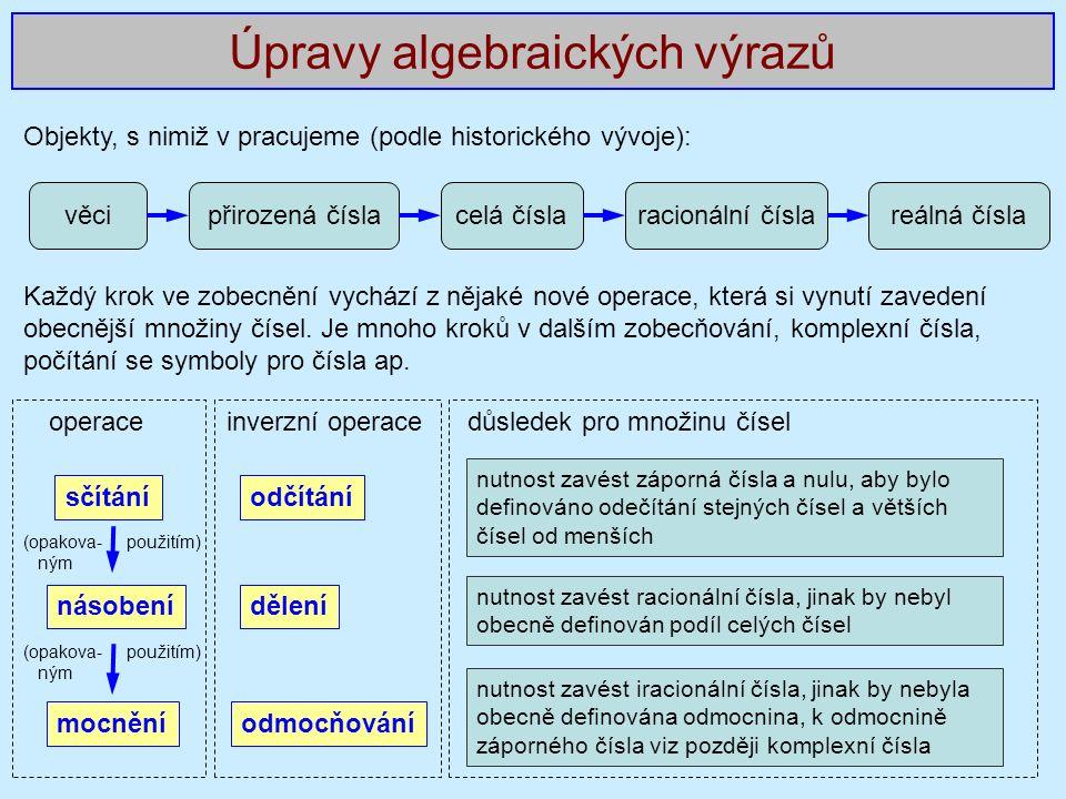 S jakými čísly pracujeme (řazeno hierarchicky) Komplexní čísla celočíselné zlomkycelá čísla racionální čísla reálná číslaImaginární čísla iracionální čísla přirozená číslanulazáporná čísla