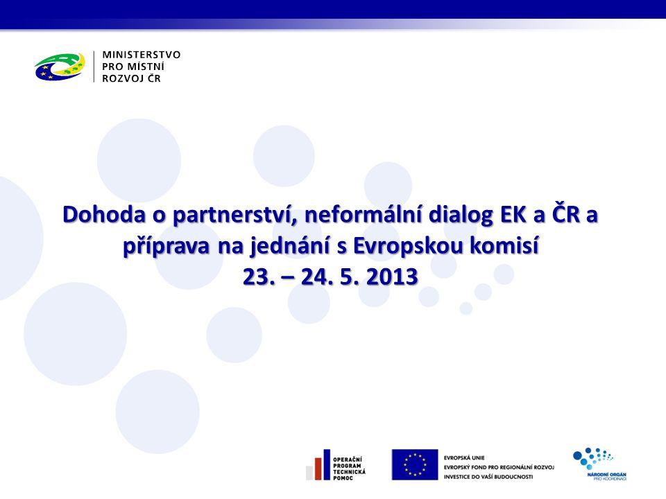 Dohoda o partnerství, neformální dialog EK a ČR a příprava na jednání s Evropskou komisí 23.