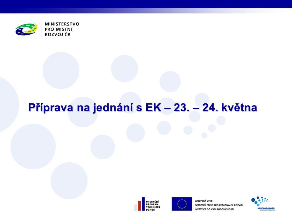 Příprava na jednání s EK – 23. – 24. května