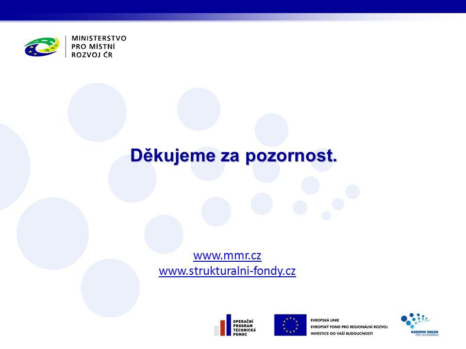 Děkujeme za pozornost. www.mmr.cz www.strukturalni-fondy.cz