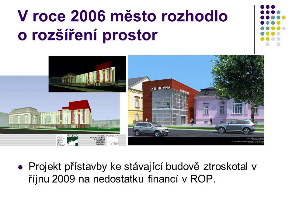 V roce 2006 město rozhodlo o rozšíření prostor Projekt přístavby ke stávající budově ztroskotal v říjnu 2009 na nedostatku financí v ROP.