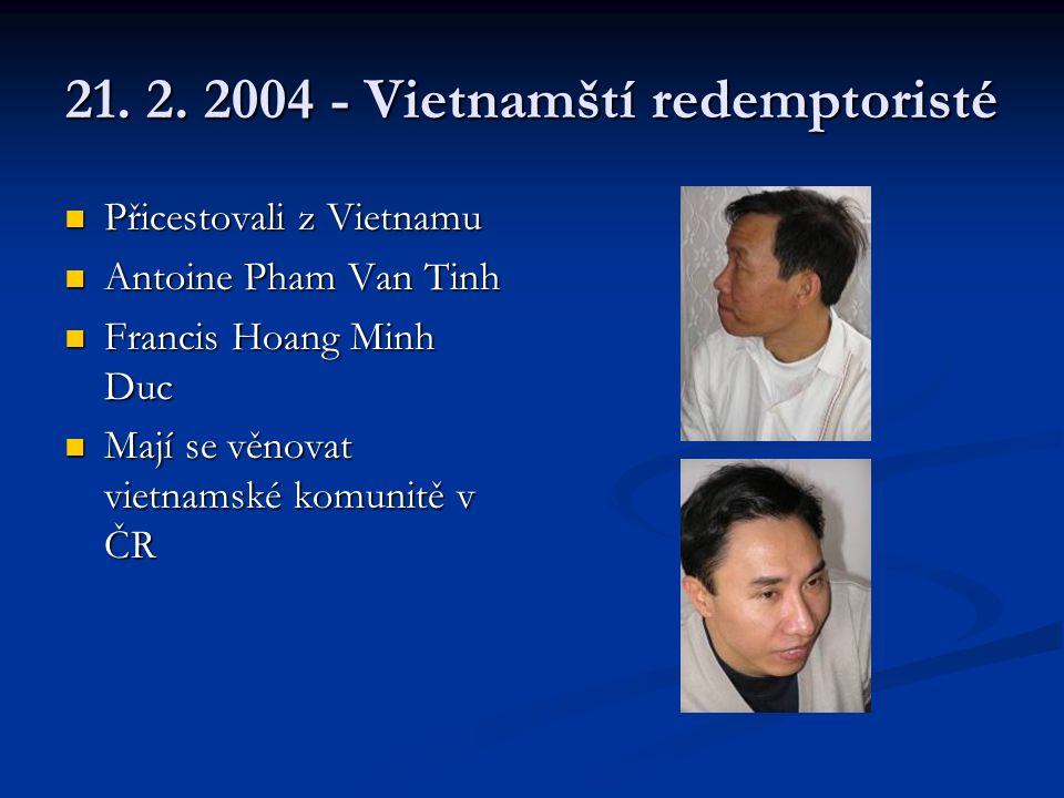 13.3. 2004 – postní duchovní obnova s Mons.