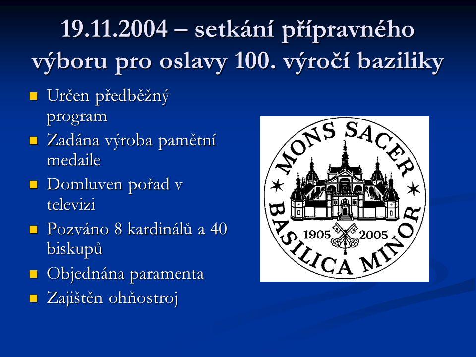 19.11.2004 – setkání přípravného výboru pro oslavy 100.