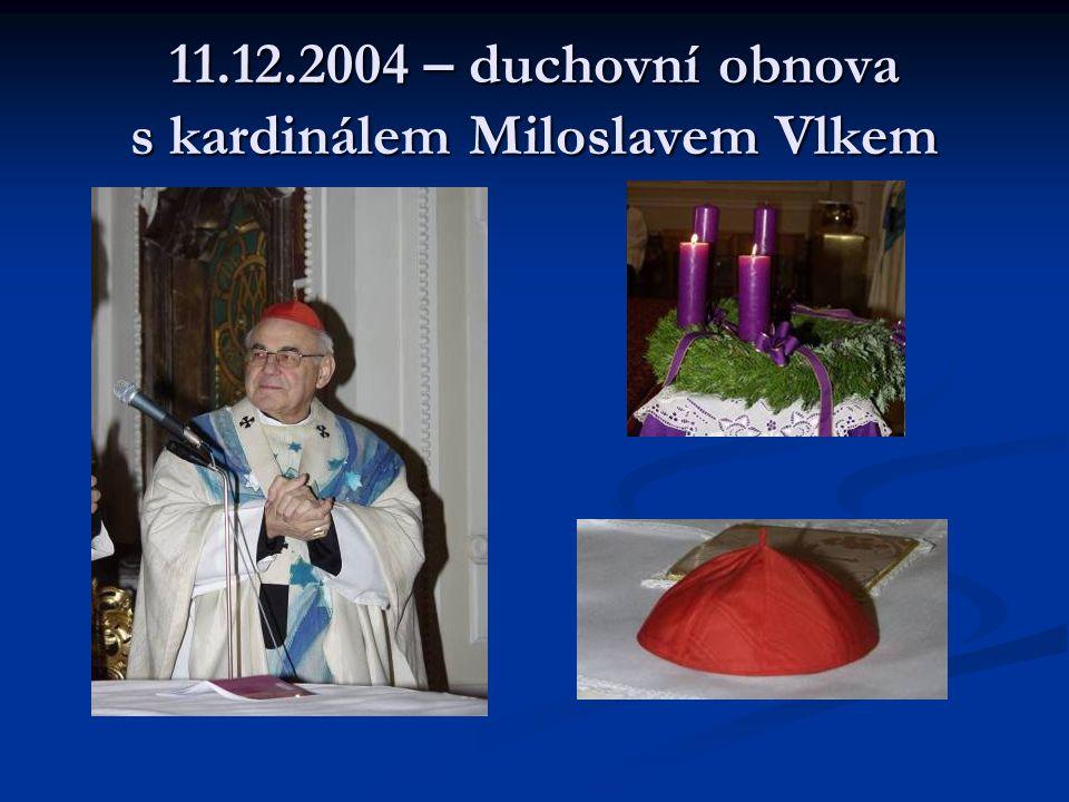 18.12.2004 – Duchovní obnova s prof. Petrem Piťhou