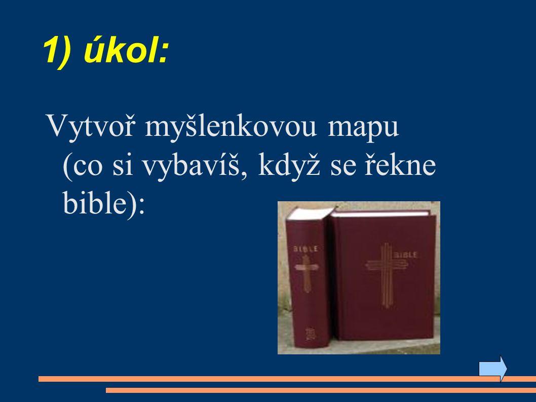 3) úkol: Znáš některá umělecká díla inspirovaná příběhy ze Starého zákona? ● obr: