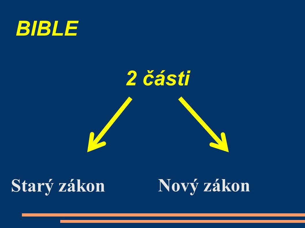 BIBLE 2 části Starý zákon Nový zákon