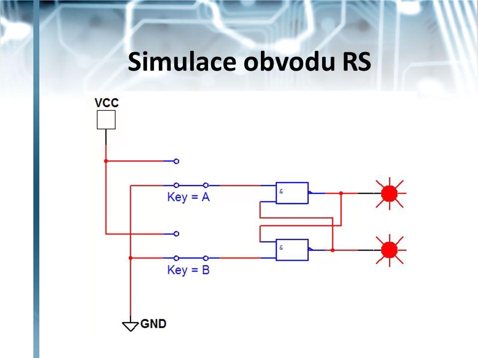 Klopný obvod RST aktivní úroveň vstupů je log 1 taktovací vstup T – při úrovni log 1 lze po dobu trvání do obvodu zapisovat Dvojčinný RST - při týlové hraně hodin se přepíše informace z prvního RST na výstup