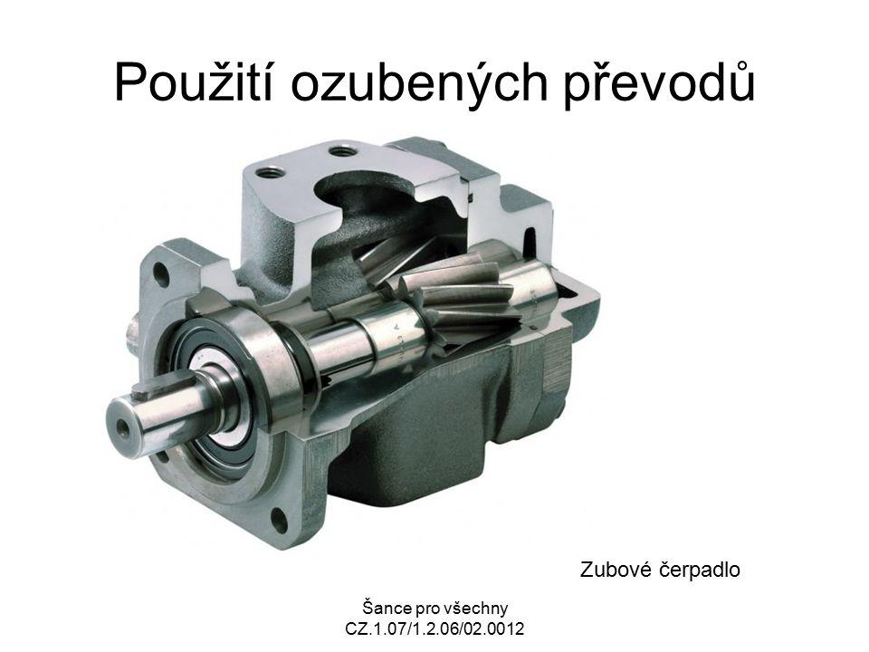 Šance pro všechny CZ.1.07/1.2.06/02.0012 Použití ozubených převodů Zubové čerpadlo