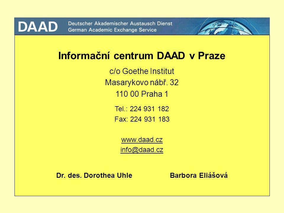 Informační centrum DAAD v Praze c/o Goethe Institut Masarykovo nábř.