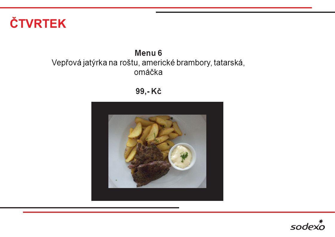 ČTVRTEK Sladké menu Jahodové knedlíky s tvarohem 88,- Kč Klasika Segedínský guláš, houskové knedlíky 85,- Kč