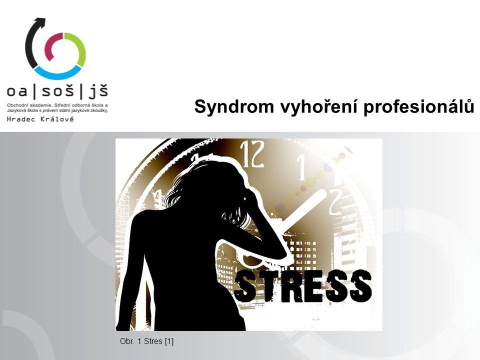 Syndrom vyhoření profesionálů Obr. 1 Stres [1]