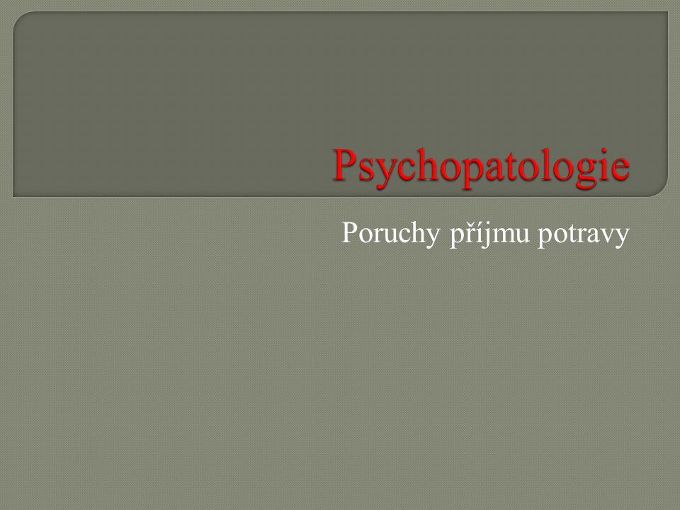 Téma sady: Psychopatologie Vzdělávací oblast: Duševní a behaviorální poruchy Vzdělávací obor: Psychologie Tematický okruh: Poruchy příjmu potravy Anotace: Prezentace s cvičeními k aktivizaci žáků.
