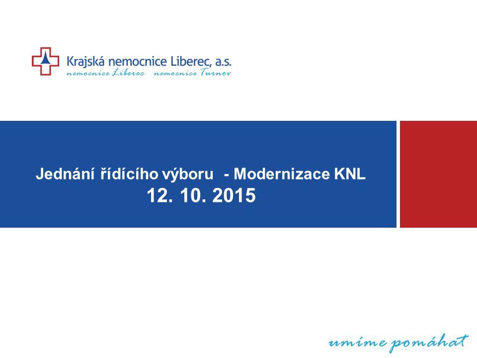 Jednání řídícího výboru - Modernizace KNL 12. 10. 2015
