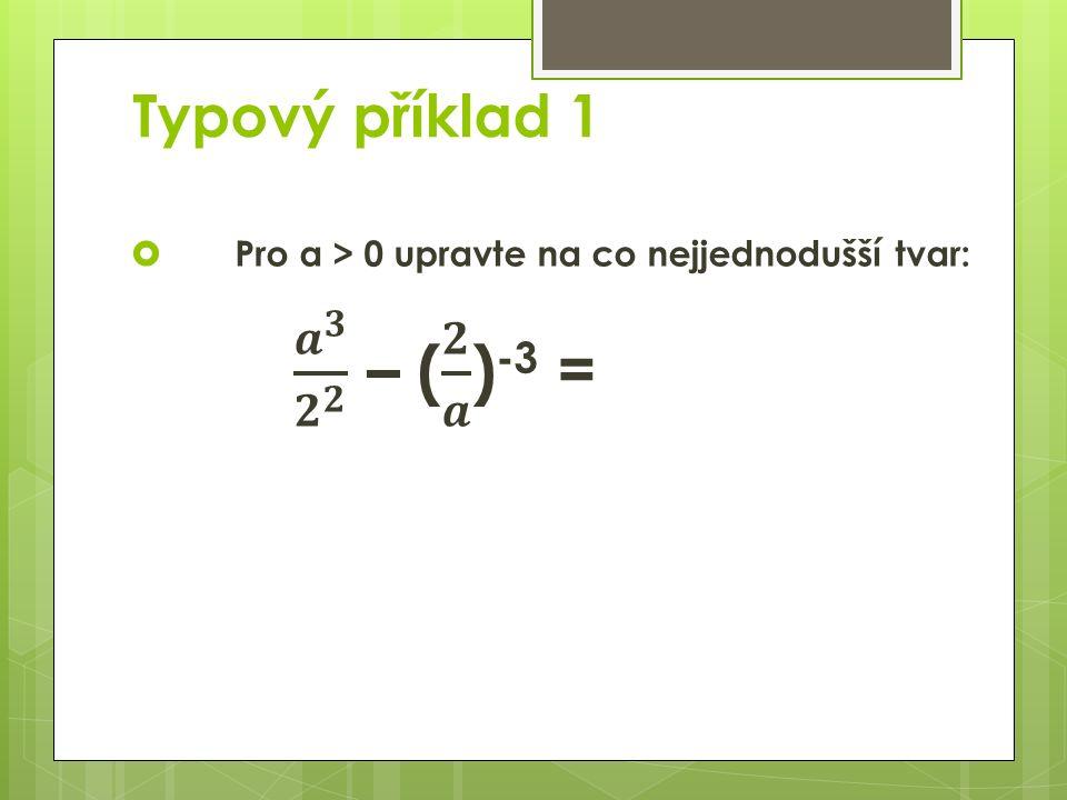 Typový příklad 1