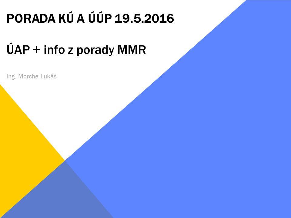PORADA KÚ A ÚÚP 19.5.2016 ÚAP + info z porady MMR Ing. Morche Lukáš
