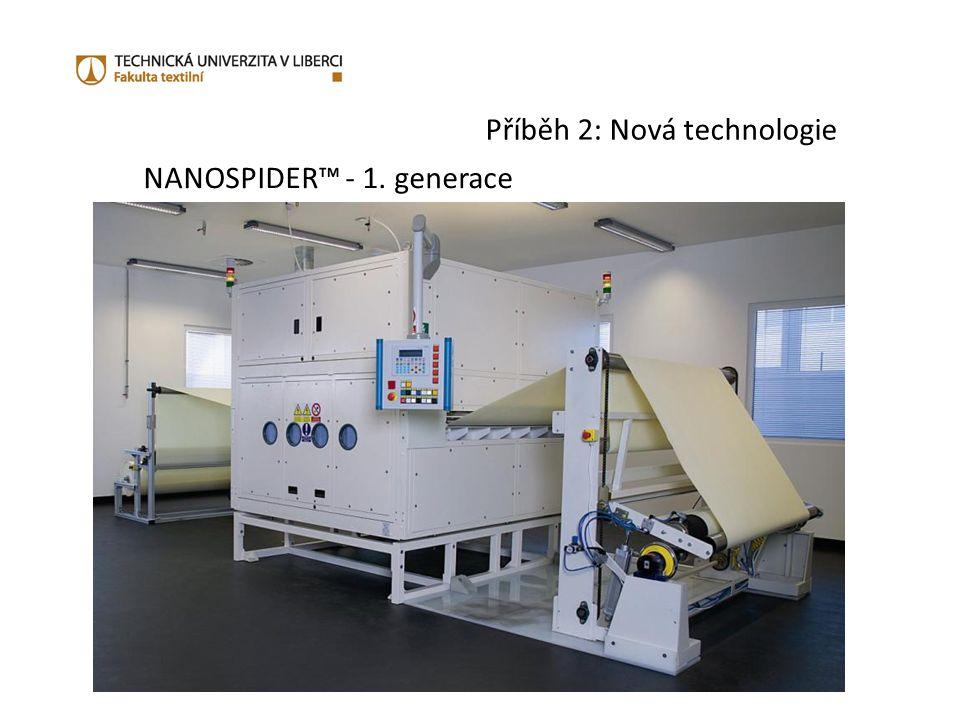 Příběh 2: Nová technologie NANOSPIDER™ - 1. generace