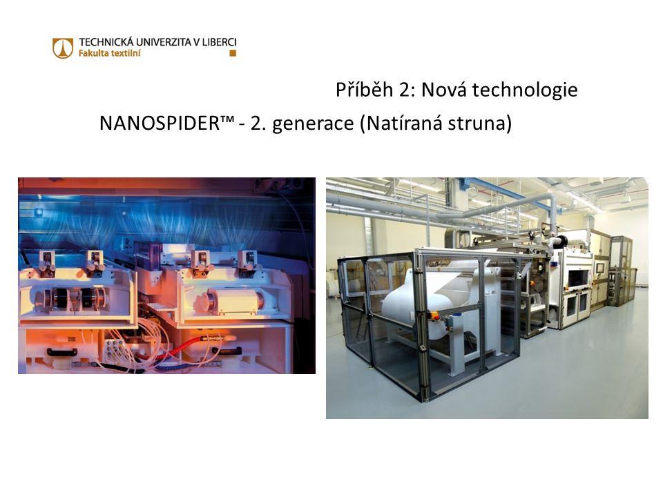 Příběh 2: Nová technologie NANOSPIDER™ - 2. generace (Natíraná struna)