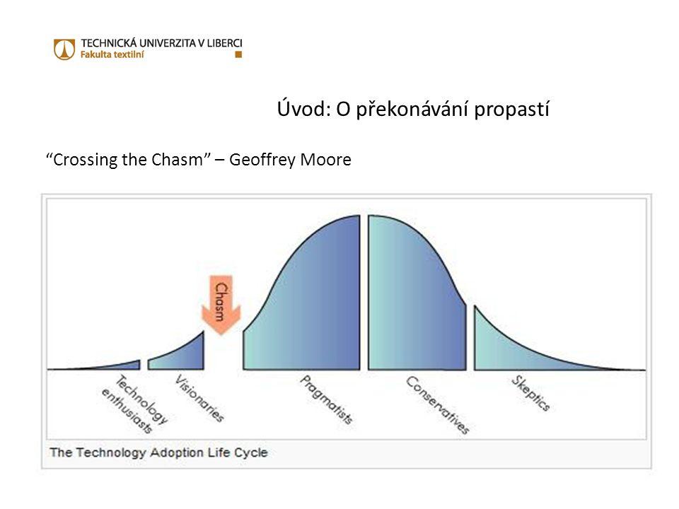 Úvod: O překonávání propastí Moore ukazuje, že ve skutečnosti jsou na křivce životního cyklu produktu praskliny, které se nacházejí mezi jednotlivými fázemi tohoto cyklu a nelze přistupovat stejně ke stejným skupinám zákazníků reprezentujícím danou fázi.