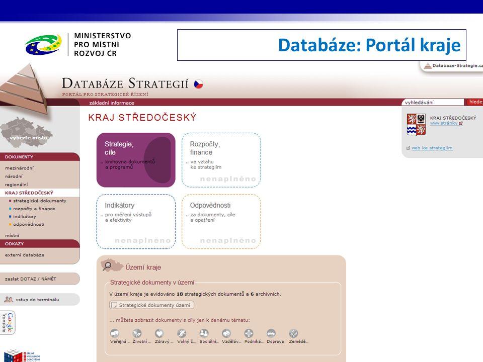 Databáze: Portál kraje