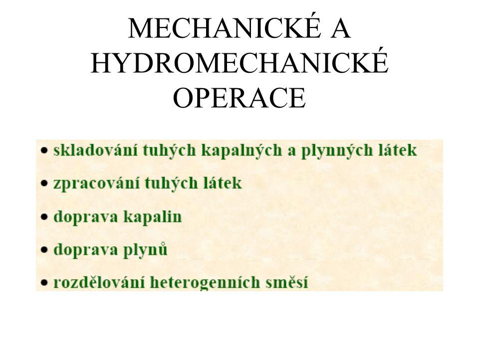 MECHANICKÉ A HYDROMECHANICKÉ OPERACE