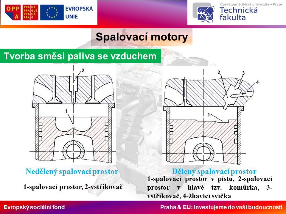 Evropský sociální fond Praha & EU: Investujeme do vaší budoucnosti Spalovací motory Funkce hydraulického vazebního členu 1-nízkotlaký zásobník Rail s ventilem, 2-akční člen, 3- hydraulický vazební člen (převodník) Spalovací motory Funkce hydraulického vazebního členu