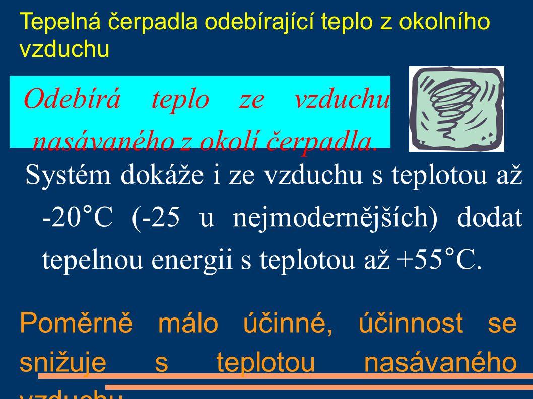 Systém dokáže i ze vzduchu s teplotou až -20°C (-25 u nejmodernějších) dodat tepelnou energii s teplotou až +55°C.