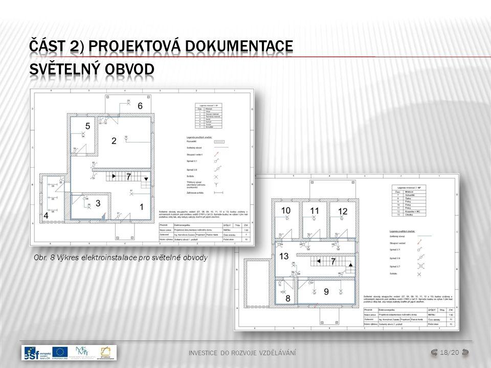 INVESTICE DO ROZVOJE VZDĚLÁVÁNÍ 18/20 Obr. 8 Výkres elektroinstalace pro světelné obvody