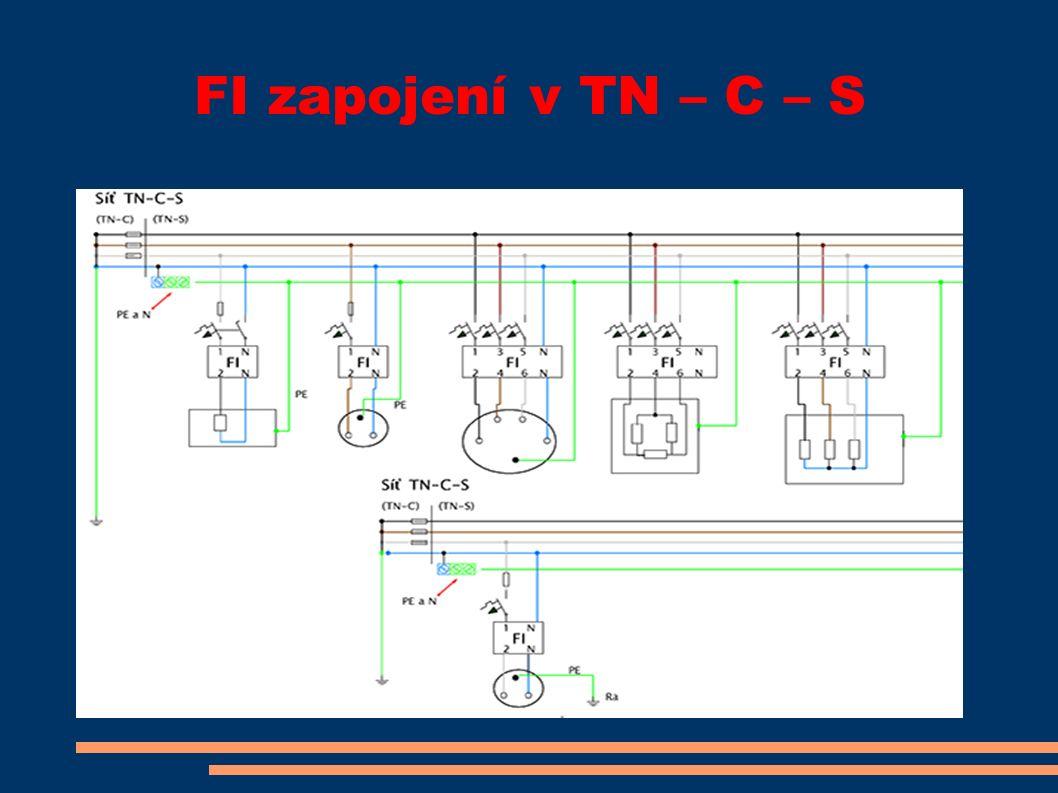 FI zapojení v TN – C – S