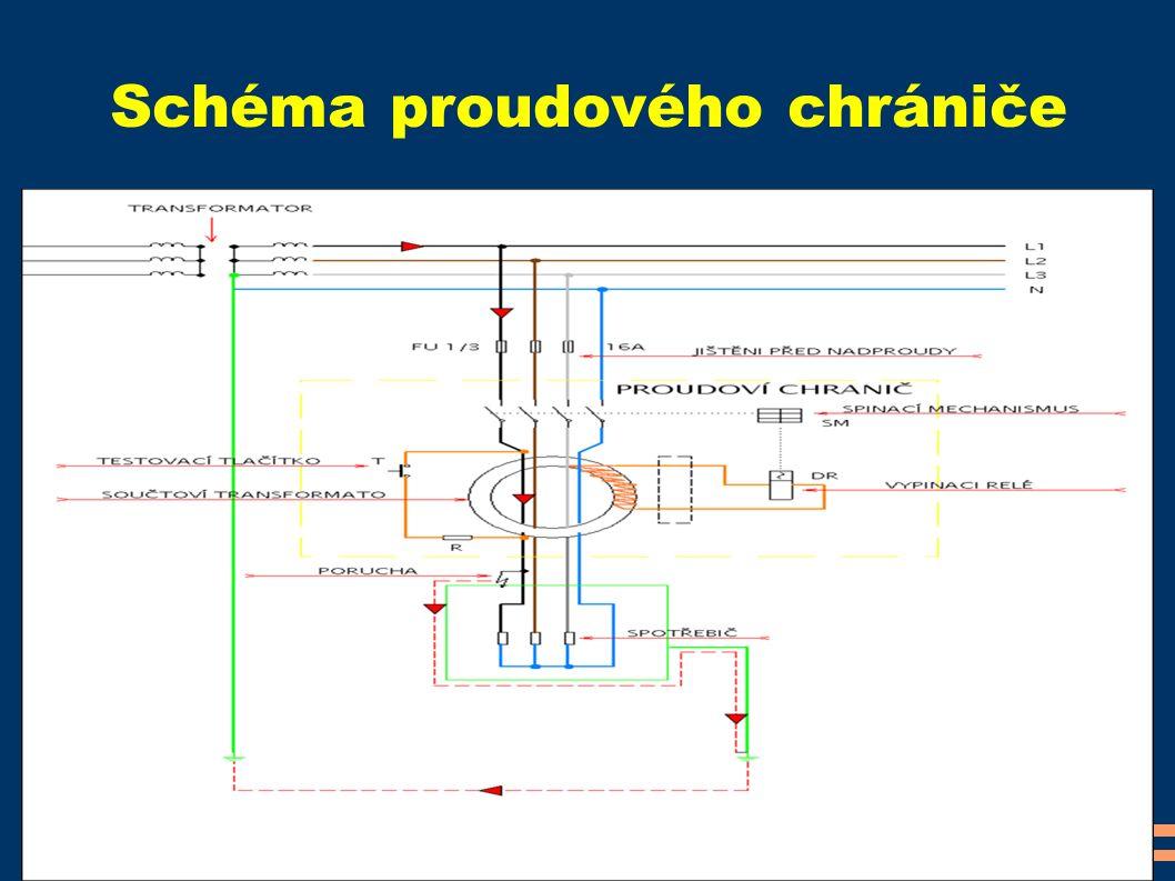 Schéma proudového chrániče