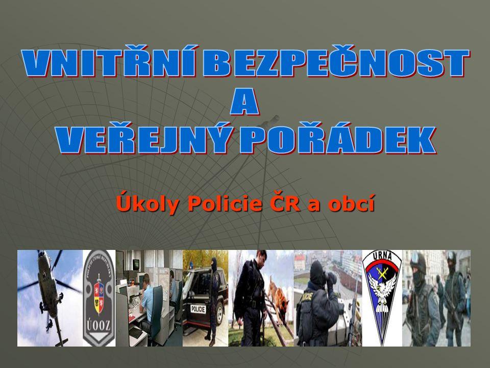 Úkoly Policie ČR a obcí