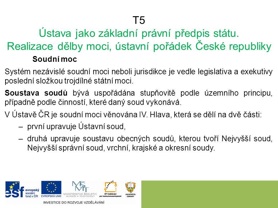 T5 Ústava jako základní právní předpis státu.