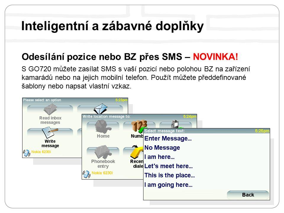 Odesílání pozice nebo BZ přes SMS – NOVINKA.