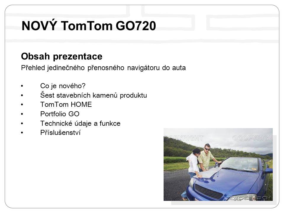 Obsah prezentace Přehled jedinečného přenosného navigátoru do auta Co je nového.