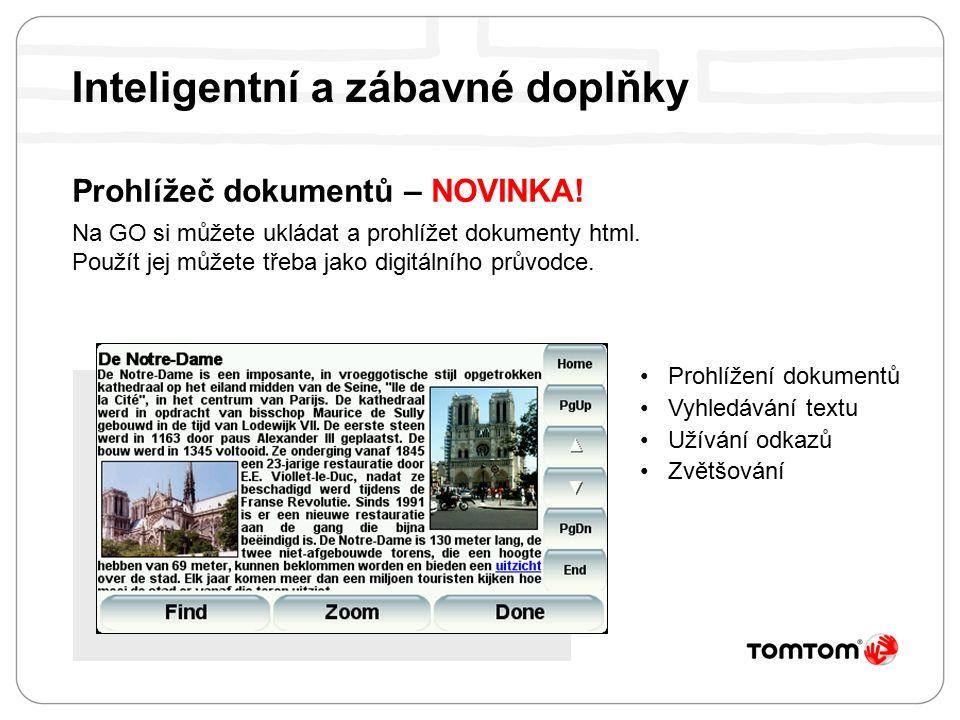 Prohlížeč dokumentů – NOVINKA. Na GO si můžete ukládat a prohlížet dokumenty html.
