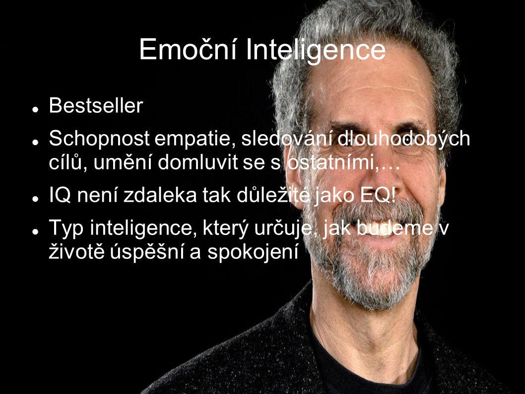 Emoční Inteligence Bestseller Schopnost empatie, sledování dlouhodobých cílů, umění domluvit se s ostatními,… IQ není zdaleka tak důležité jako EQ.