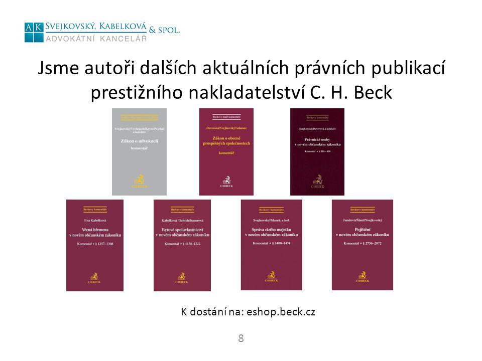 Jsme autoři dalších aktuálních právních publikací prestižního nakladatelství C.