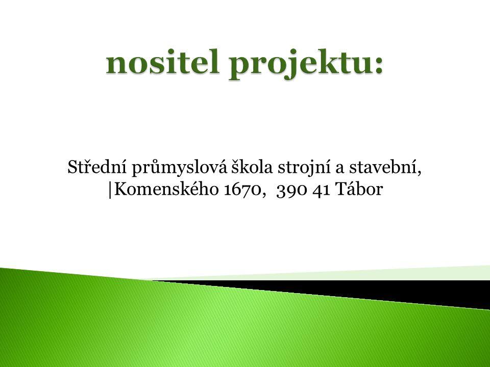 Střední průmyslová škola strojní a stavební, |Komenského 1670, 390 41 Tábor