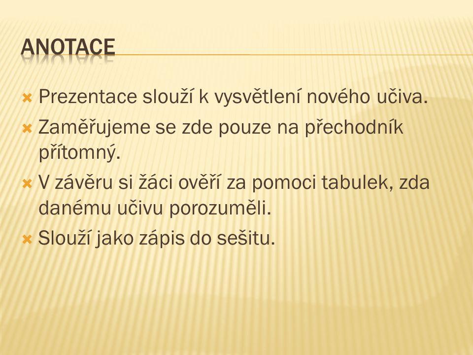  Přechodníky jsou neurčité slovesné tvary. Ve větě jsou doplňkem.