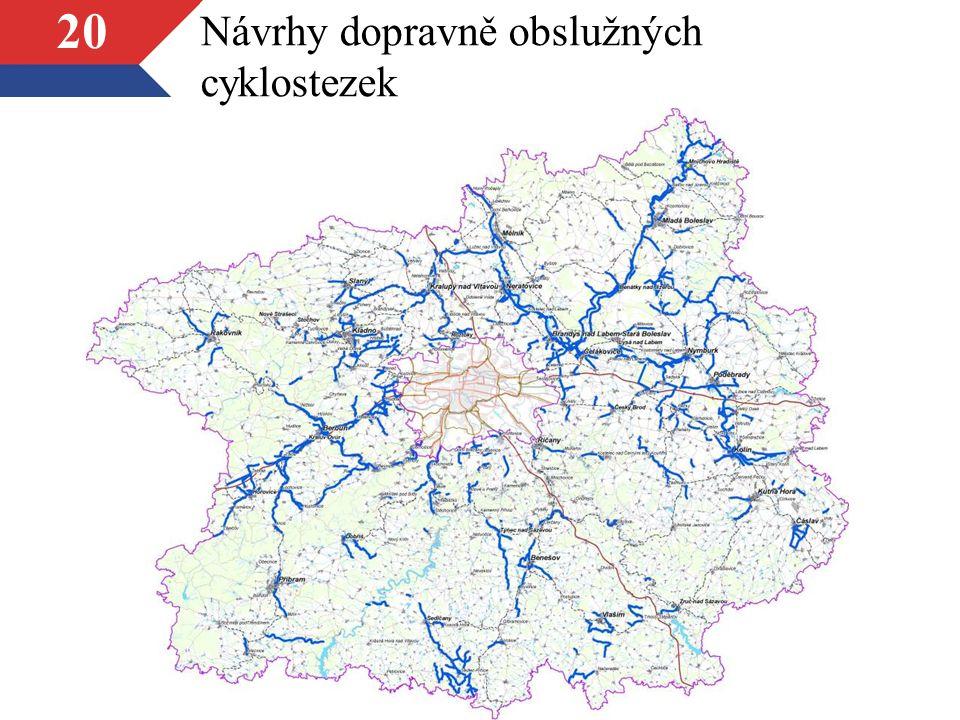 20 Návrhy dopravně obslužných cyklostezek