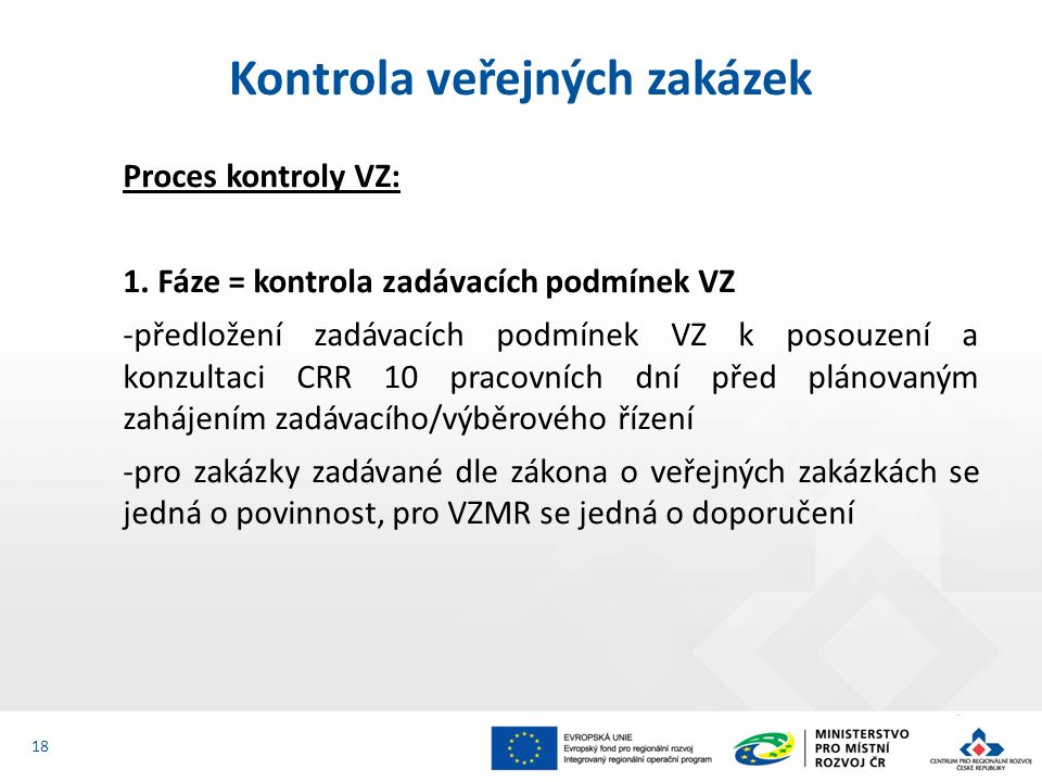Proces kontroly VZ: 1.