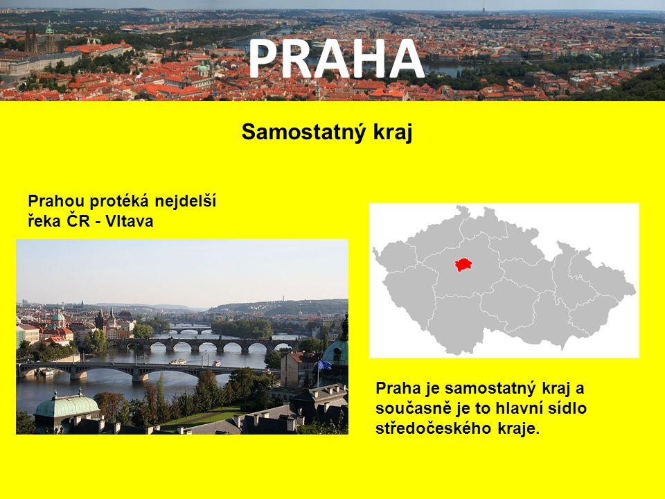 PRAHA Samostatný kraj Praha je samostatný kraj a současně je to hlavní sídlo středočeského kraje.